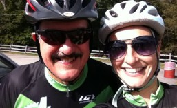 At a rest stop during the EMS Century Ride in September. It was both Robert's (a friend from the Annapolis store) and my first century. I'm pretty sure the only reason we're smiling is because there was a car full of Fig Newtons.