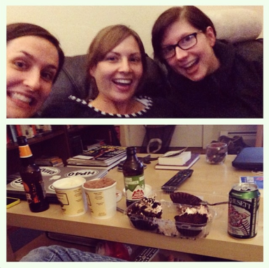 The best part about March was when Nicole was visiting and I consumed ungodly amounts of cupcake, ice cream, and beer with her and Jess while binge watching something (Parks & Rec?) on Netflix all night